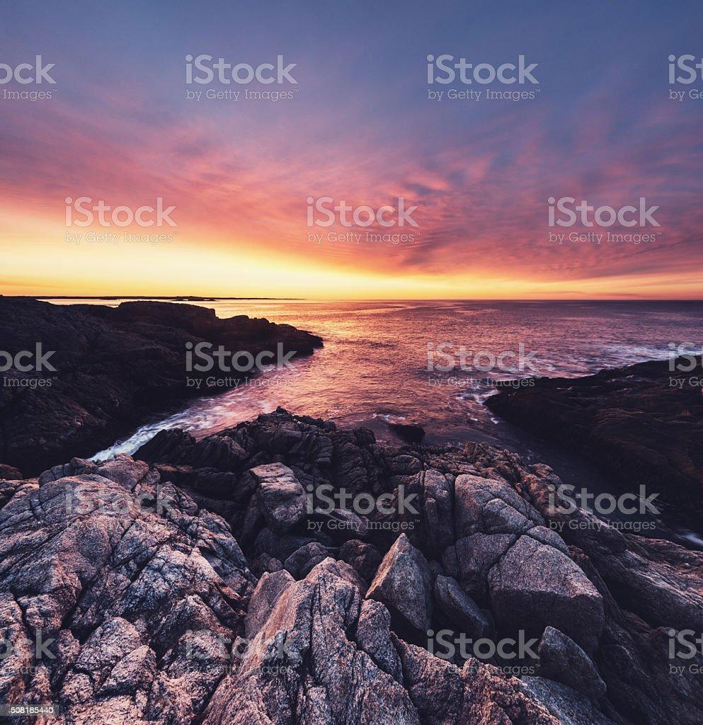 Rugged Sunrise stock photo