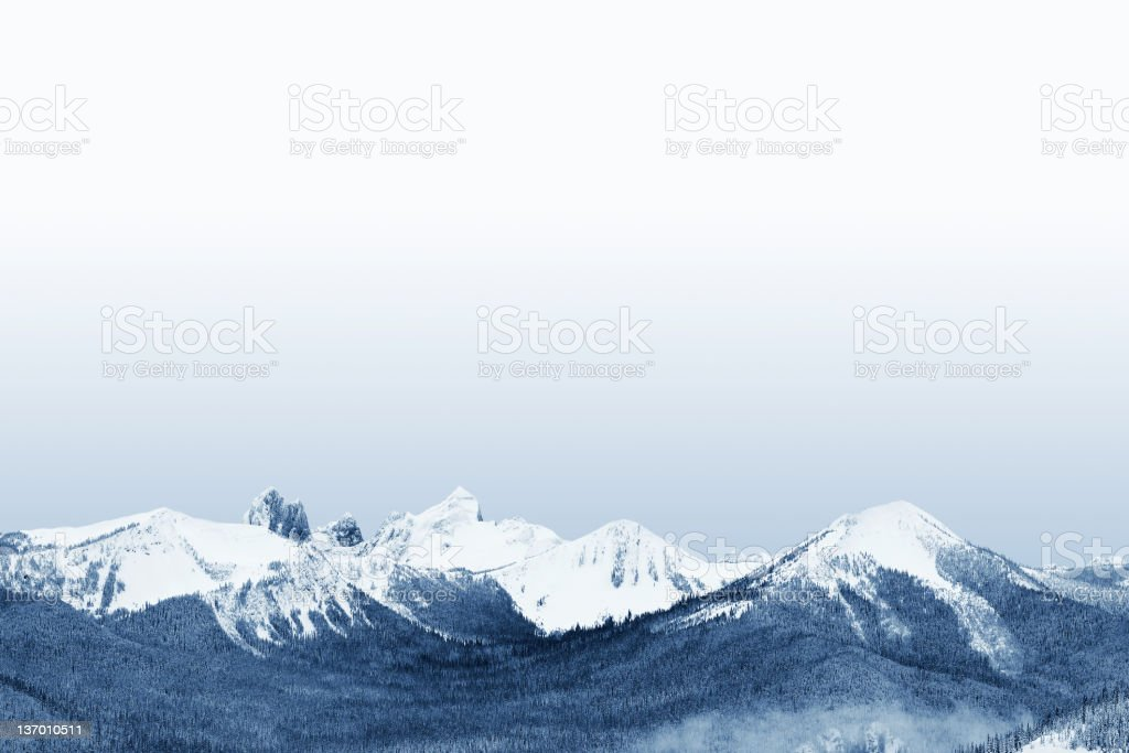 XL rugged winter mountains royalty-free stock photo