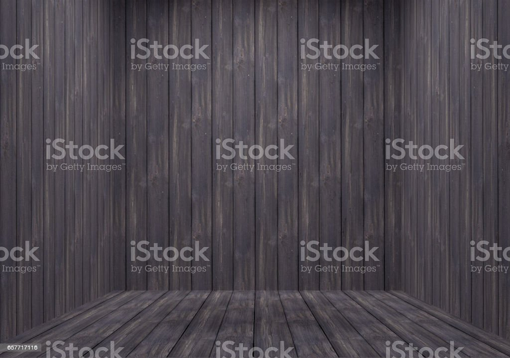 Rugged Wooden Room stock photo