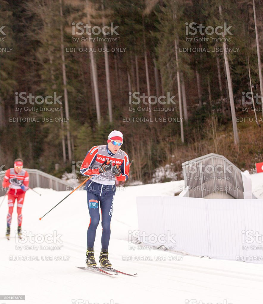 Ruhpolding, Germany, 2016/01/06: training  Biathlon World Cup in Ruhploding stock photo