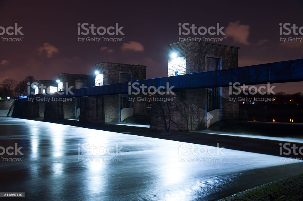 Ruhrschleuse Duisburg Ruhrort stock photo
