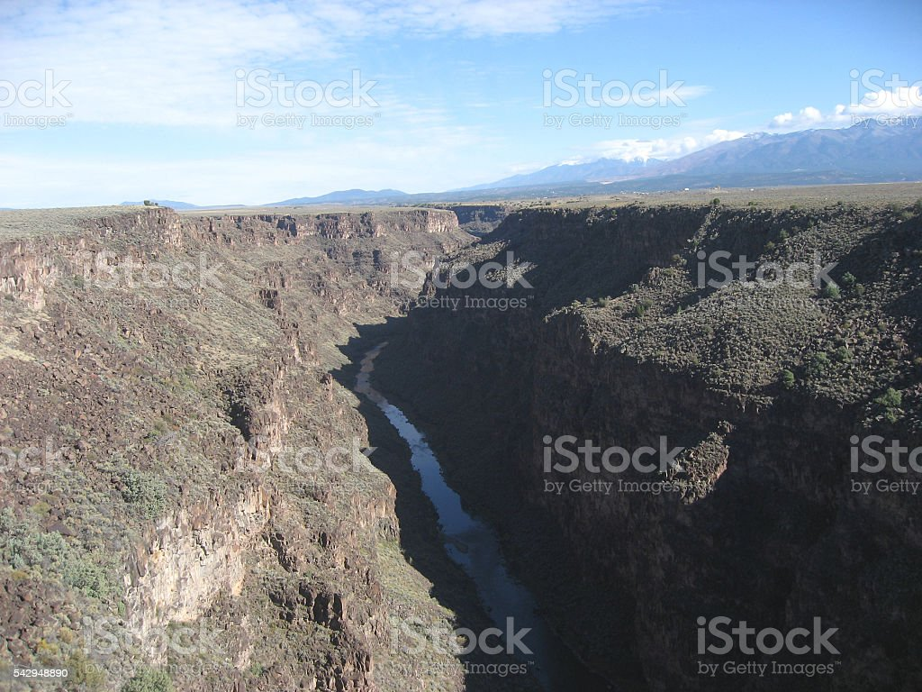 Rui Grande Gorge Taos New Mexico stock photo