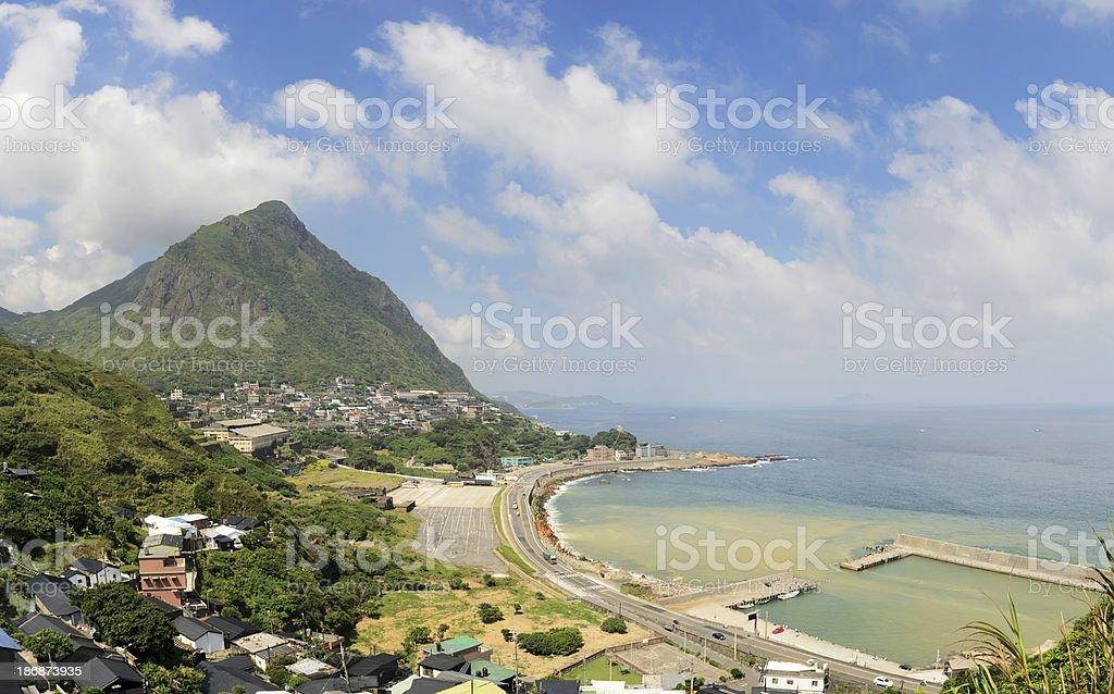 Ruifang village and coastline stock photo