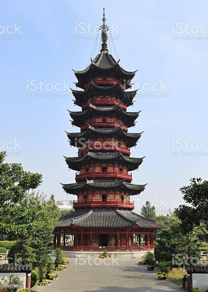 Ruiguang Pagoda, Suzhou, China royalty-free stock photo