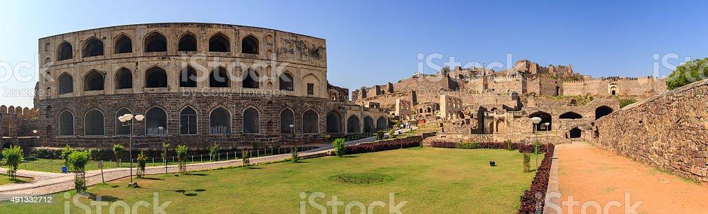 Ruin city at Hyderabad city - India stock photo