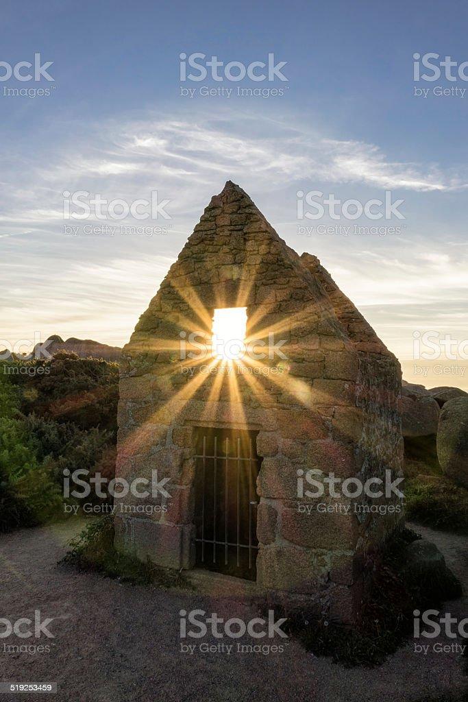 Ruin in Brittany stock photo