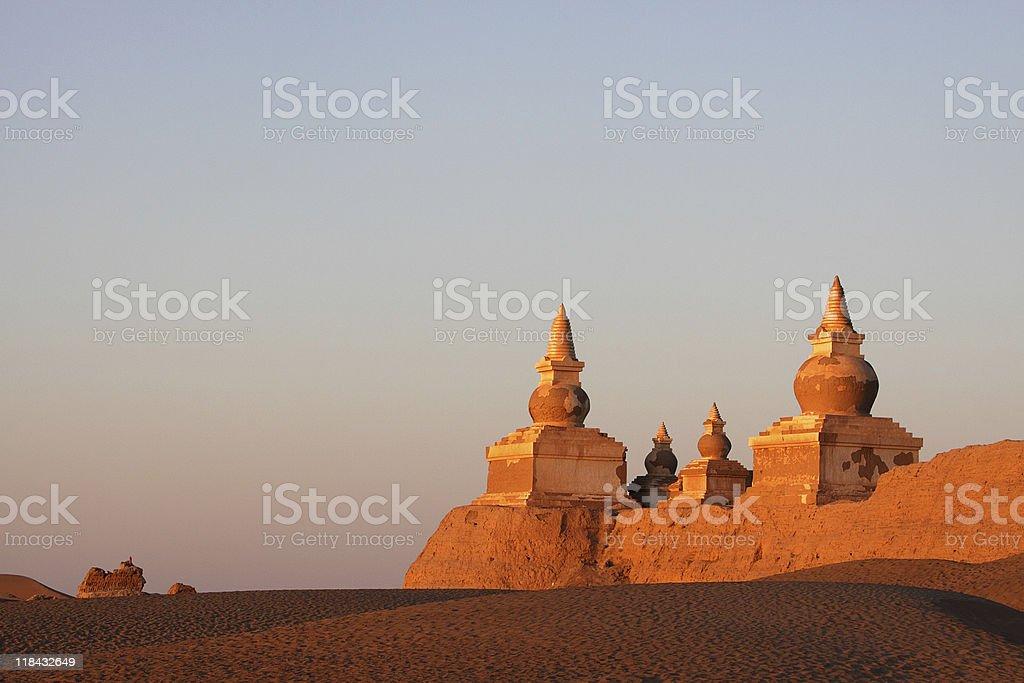 ruin in gobi desert royalty-free stock photo