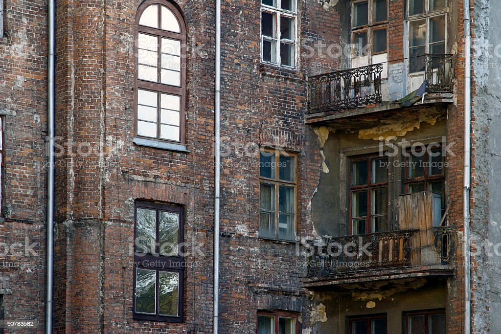 Ruin in the down town. stock photo
