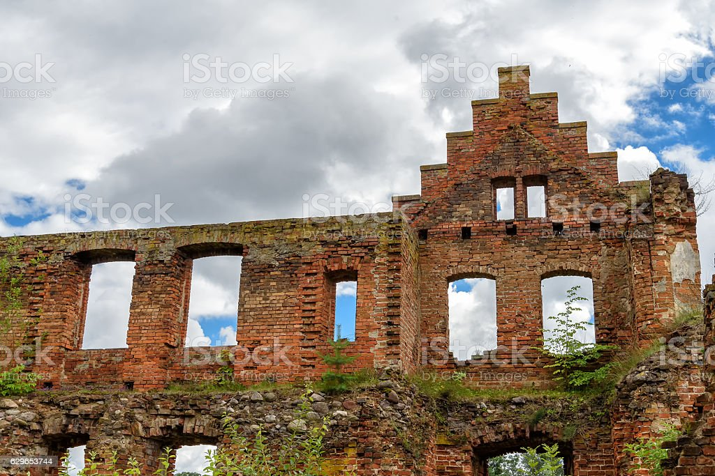 ruin of a castle stock photo