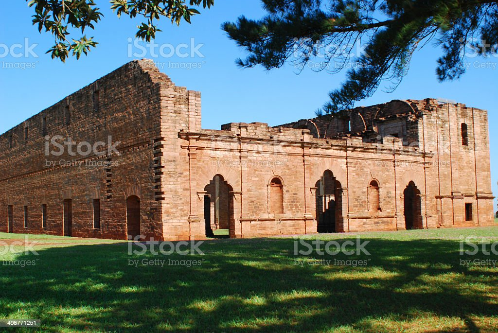 Ruin of a Mission stock photo