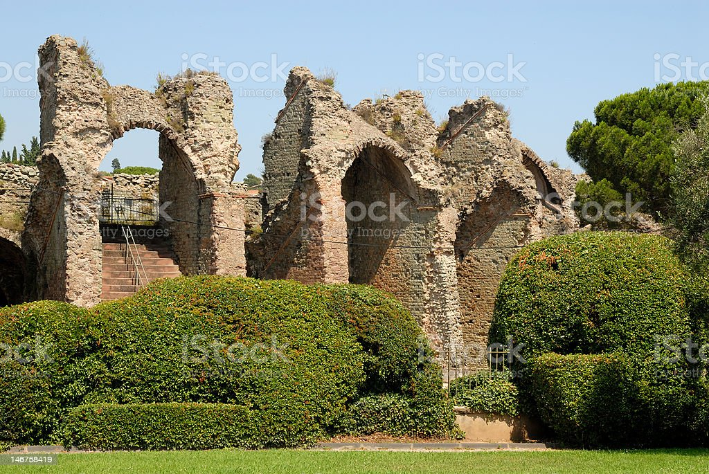 Ruin of a Roman arena royalty-free stock photo