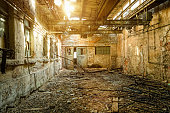 Ruin of an damaged old factory - Urbex photography