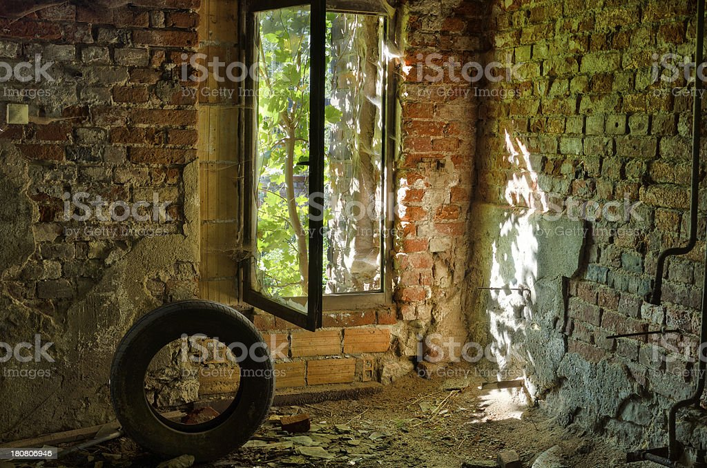 Ruin of an old factory royalty-free stock photo