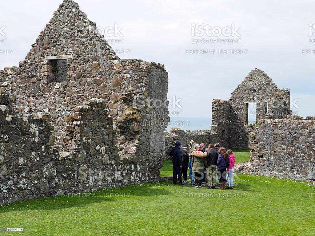 ruin of dunluce castle stock photo