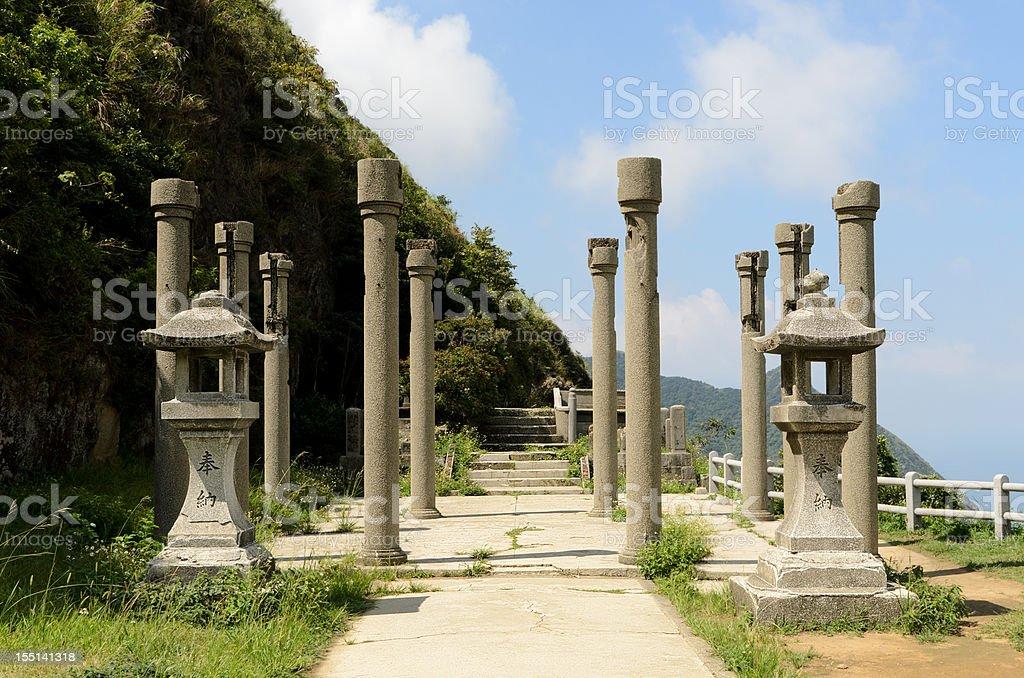 Ruin of Golden Shrine stock photo