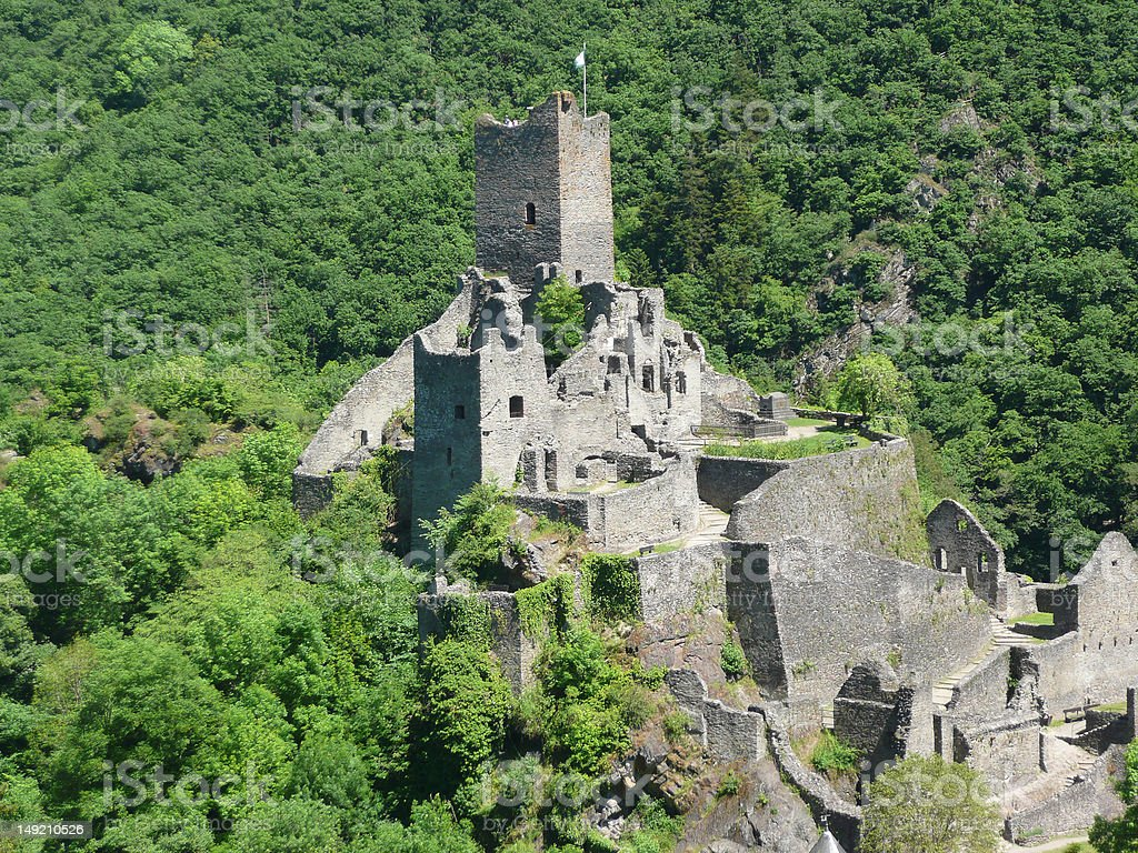 Ruin of Medieval Castle stock photo