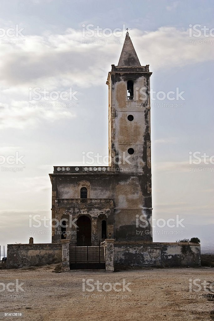 Ruin of old church in Spain, Andalusia. royalty-free stock photo