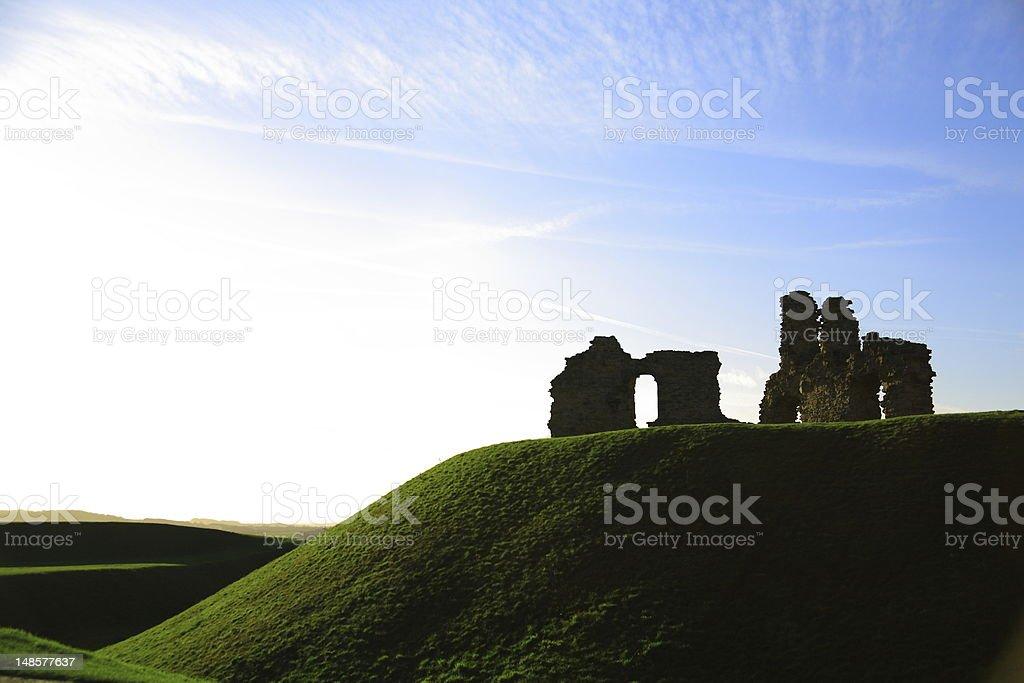 Ruin of Sandal Castle. stock photo
