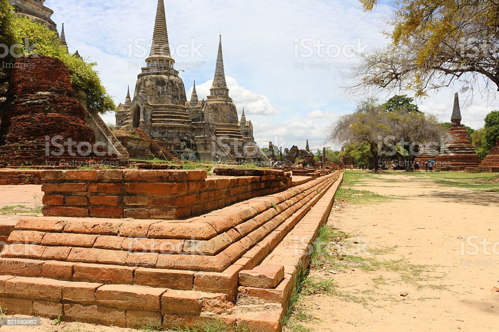 ruin of thailand stock photo