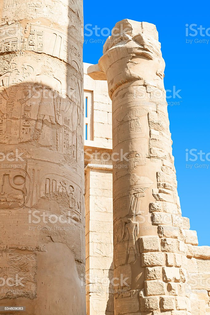 Ruin of the Karnak Temple, Egypt stock photo