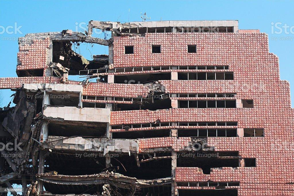 Ruin of war - demolished building royalty-free stock photo