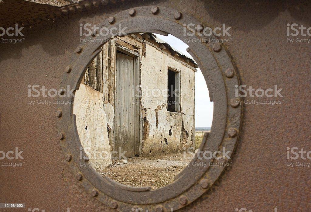 Ruin through the boiler. royalty-free stock photo