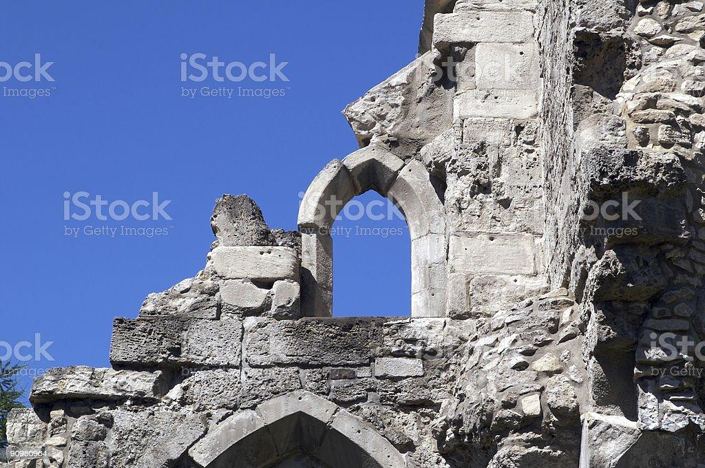 Ruin wall stock photo