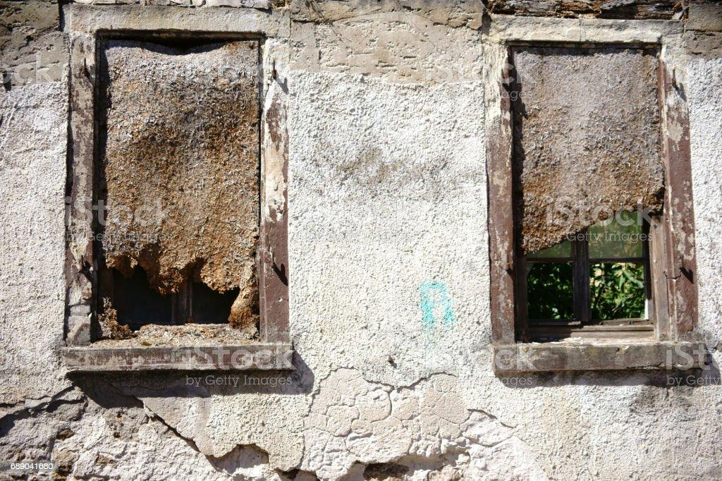 Ruin window stock photo