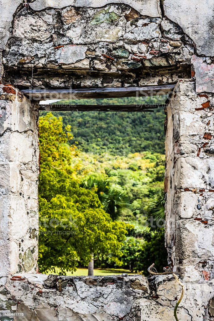 Ruin with a View stock photo