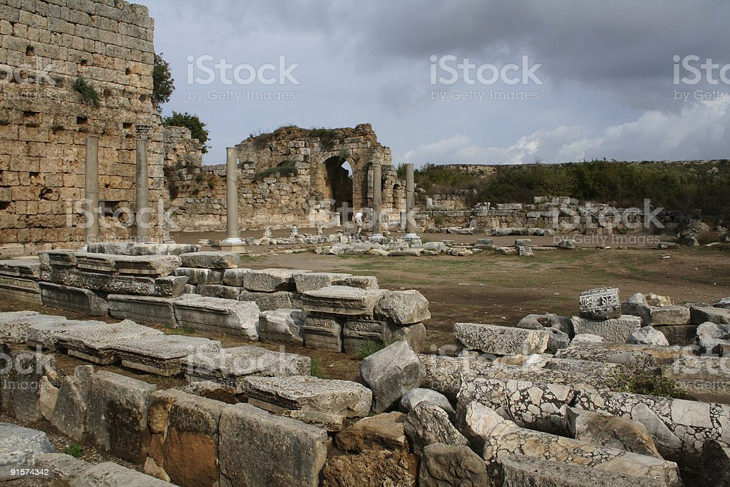 Ruinas de Perge stock photo