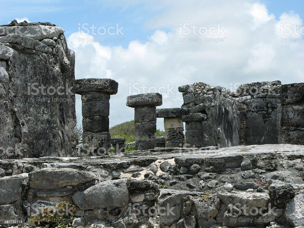 Ruinas y muros stock photo