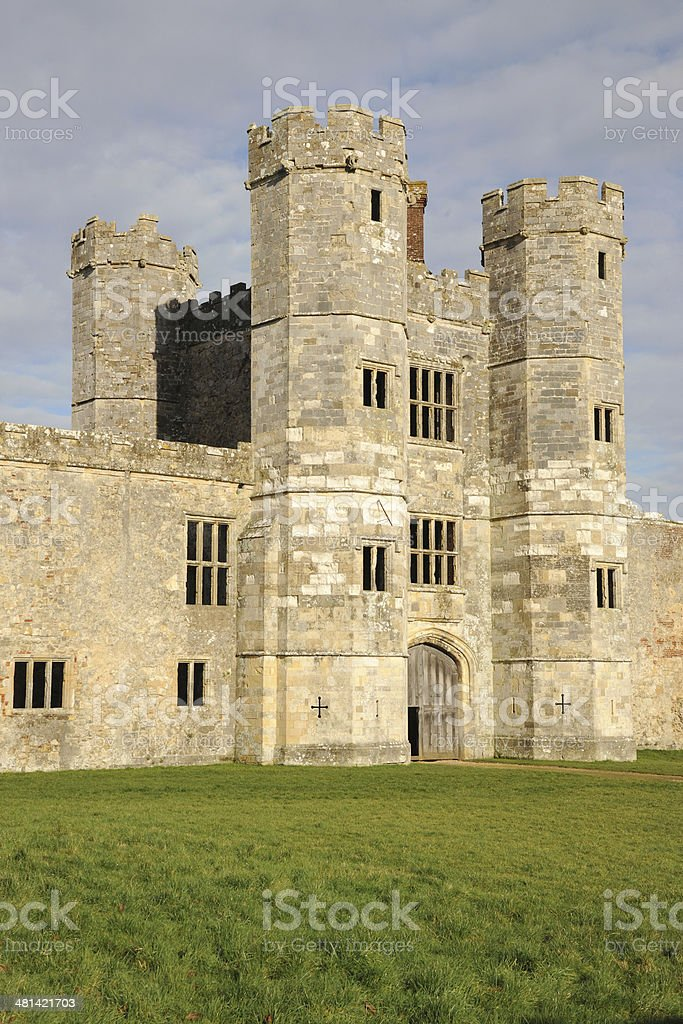 Ruined Abbey at Tichfield. England stock photo