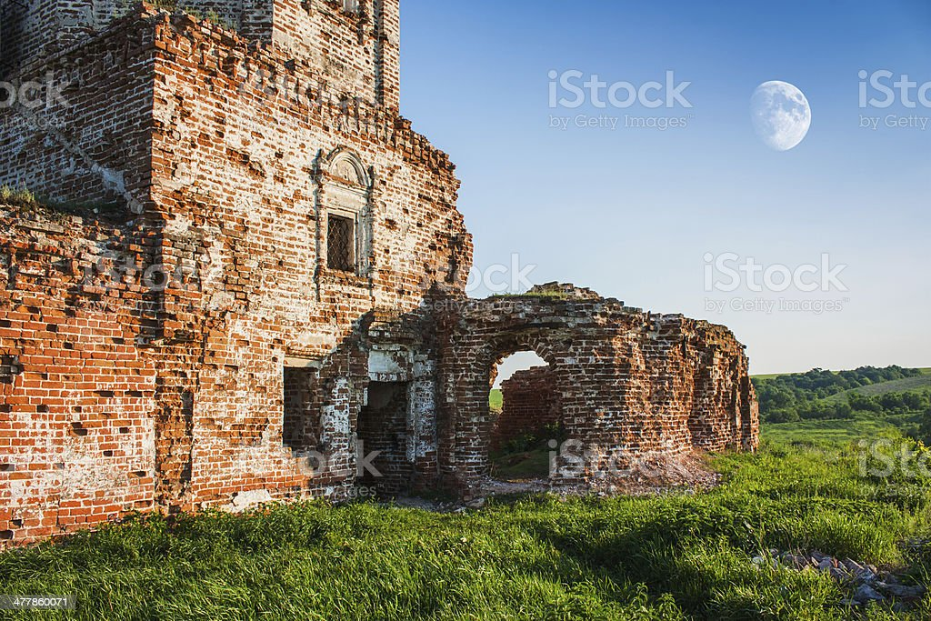 ruined ancient church royalty-free stock photo
