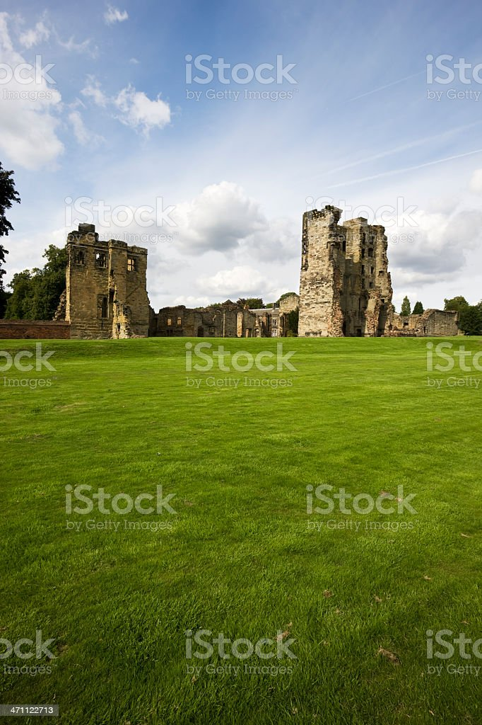 Ruined Ashby Castle royalty-free stock photo