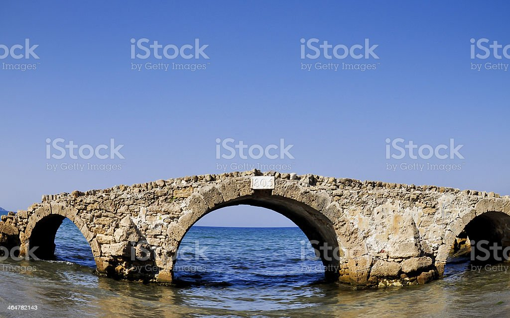 Ruine Brücke in das Meer.  Zakynthos.  Griechenland Lizenzfreies stock-foto