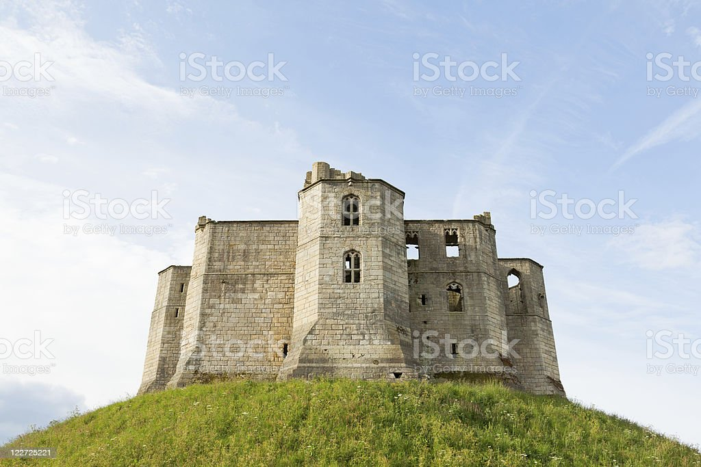Ruined Castle on a Hill royalty-free stock photo