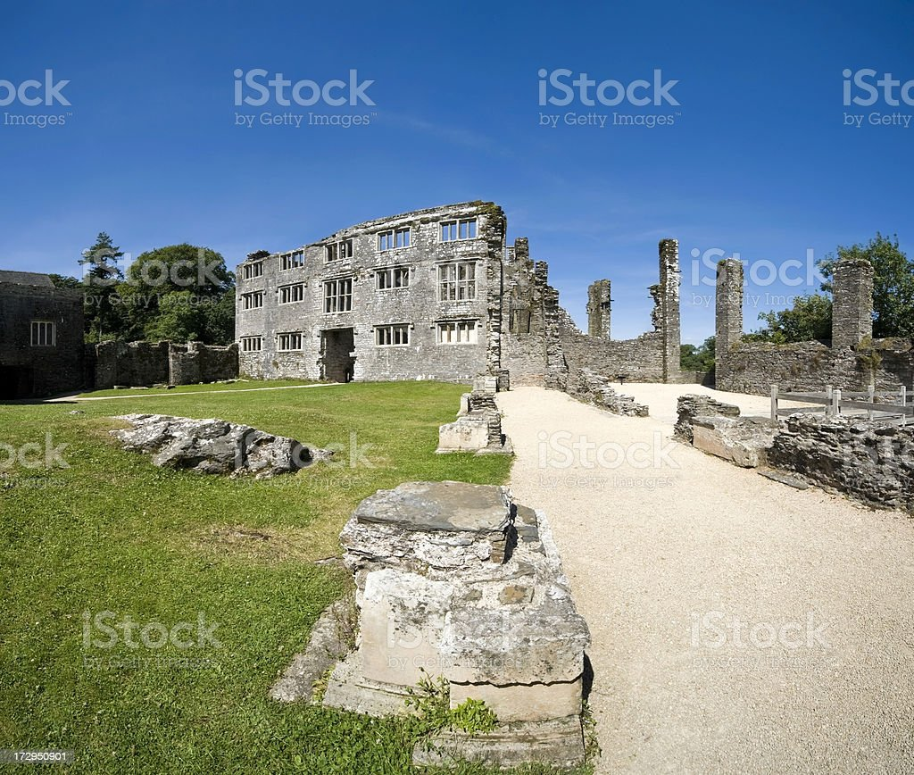 ruined castle royalty-free stock photo