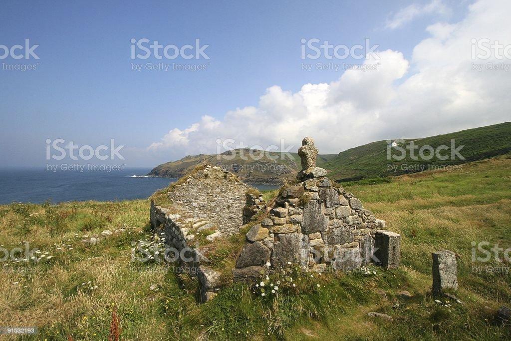 Ruined Chapel - Landscape stock photo