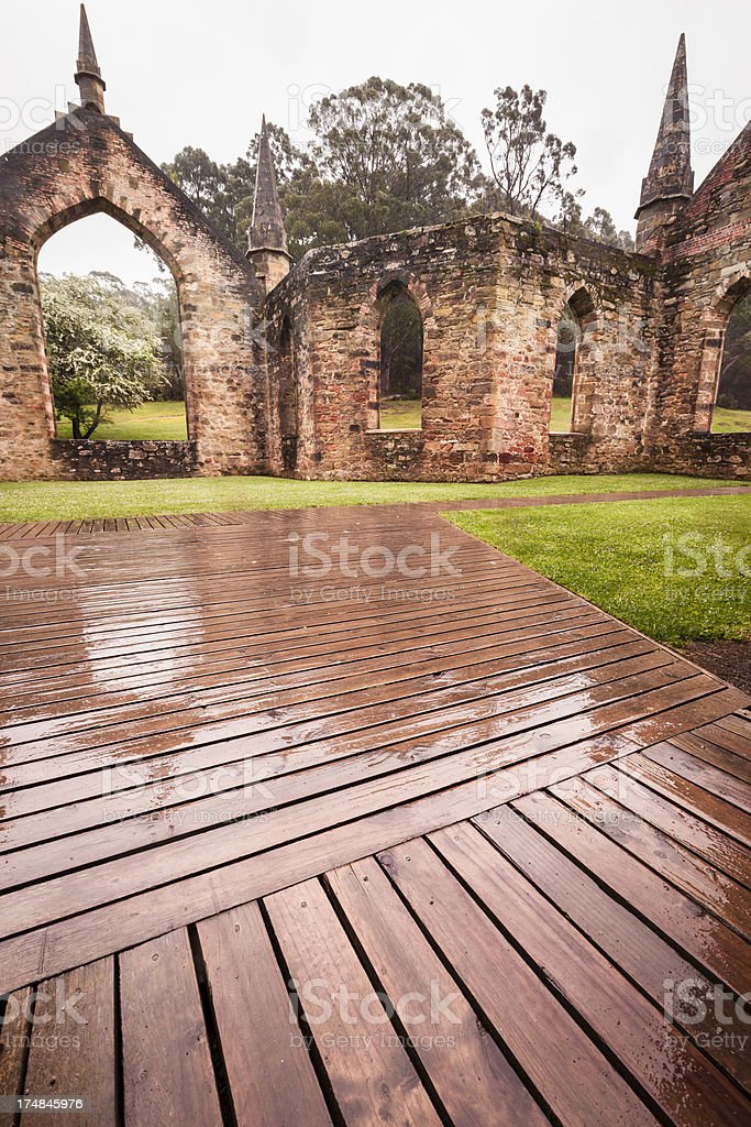 Ruined church royalty-free stock photo