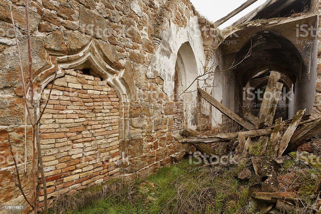 Ruined Church royalty-free stock photo