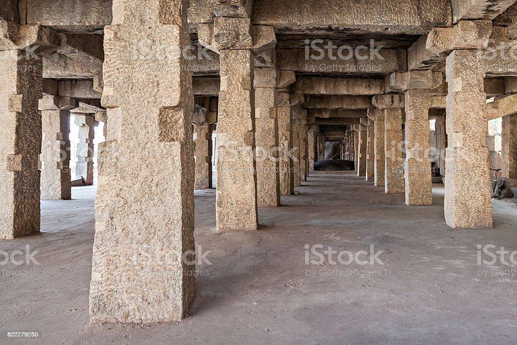 Ruined columns stock photo