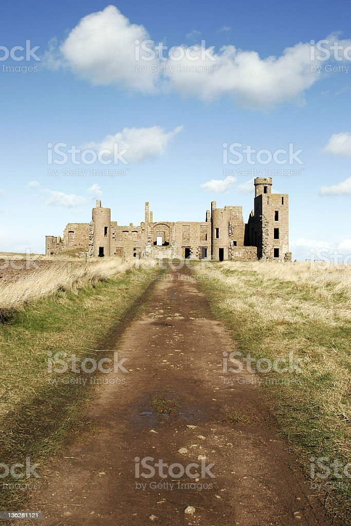 Ruined driveway royalty-free stock photo
