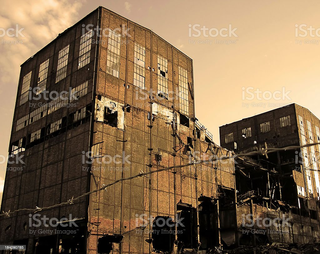 Ruined factory royalty-free stock photo