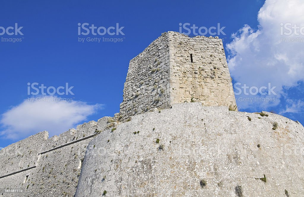 Ruined Fortress in Italy royalty-free stock photo