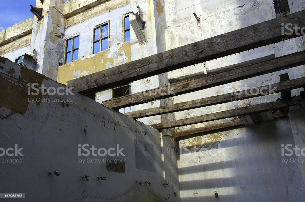 Ruined house royalty-free stock photo