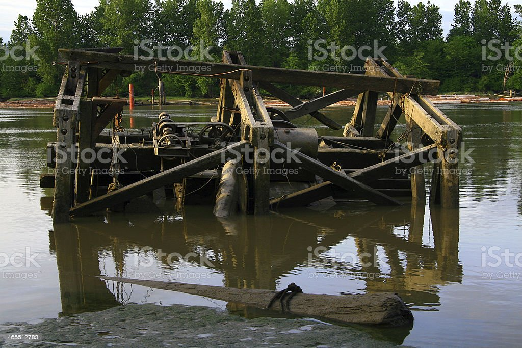 Ruined in the River royalty-free stock photo