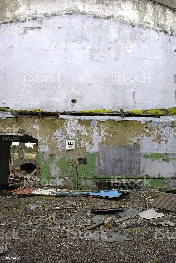 Ruined indoor house royalty-free stock photo