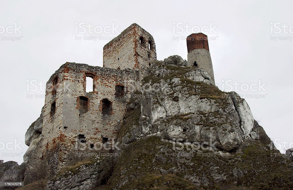 Ruined medieval castle royalty-free stock photo