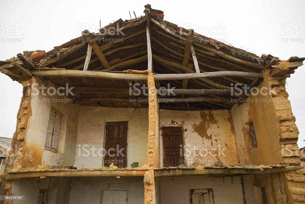 Ruined old Bed - Antigua Casa Rural en Ruinas stock photo