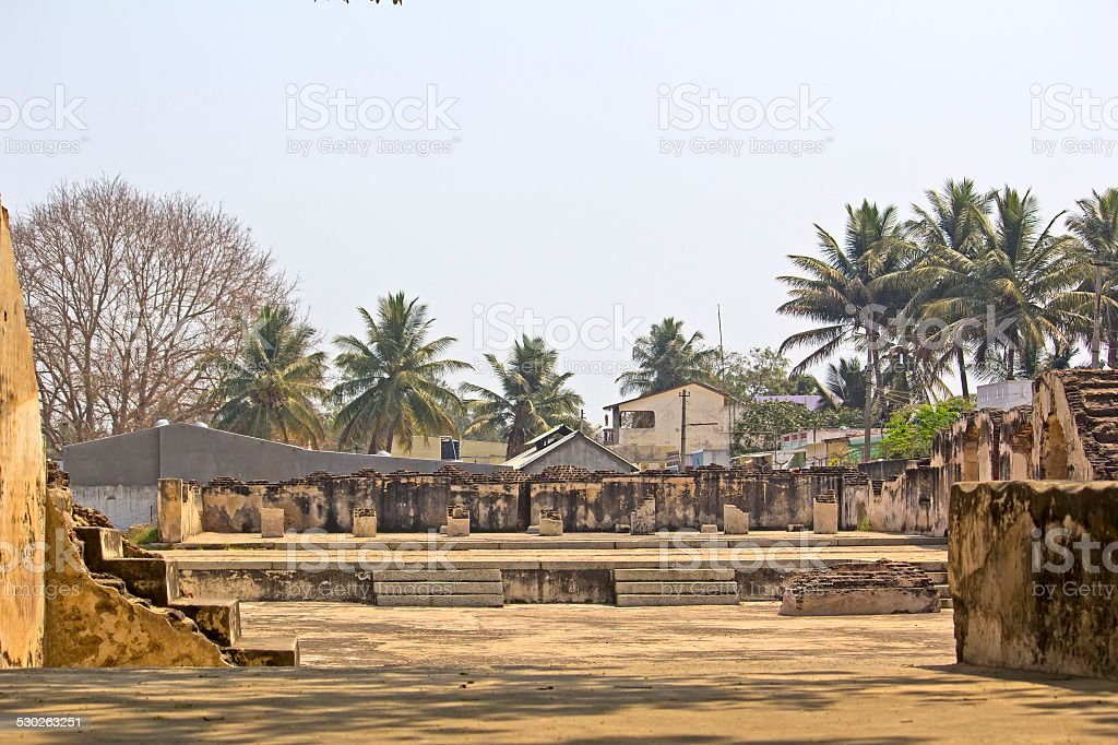 Ruined palace of Tippu Sultan stock photo